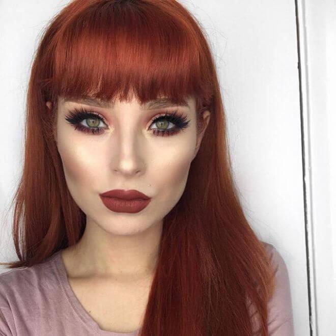 Crvena kosa - makeup