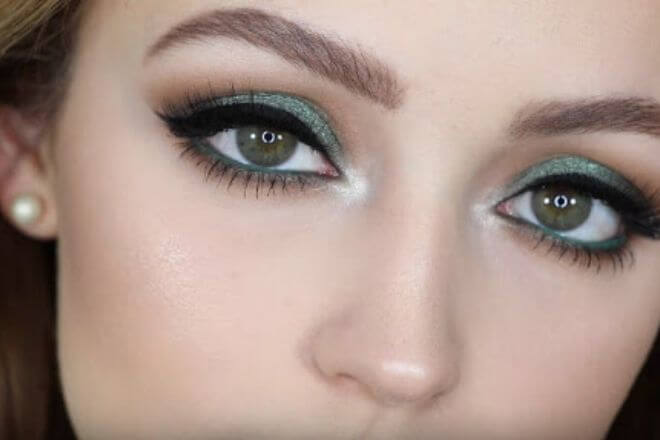 Zelene oči - makeup