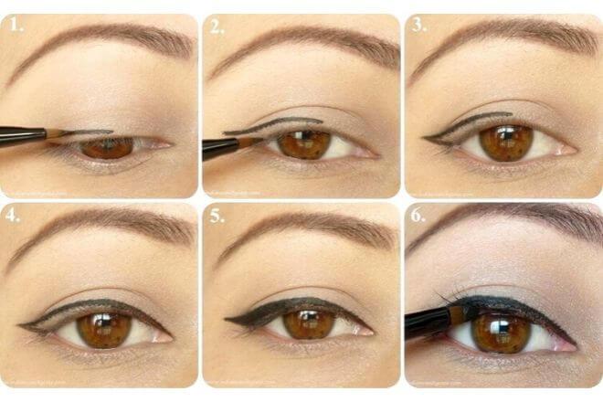 Nanošenje tuša za oči