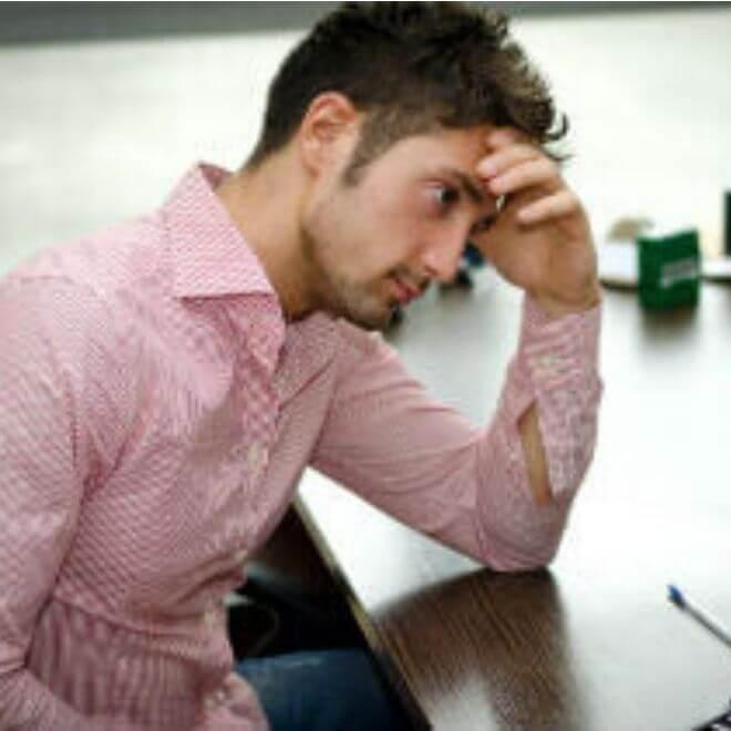 Muškarac pod stresom