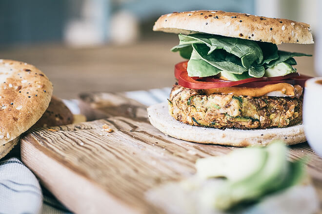 burger od chia sjemenki