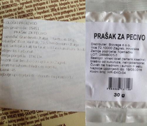 Sastav - prašak za pecivo bez fosfata, Garden i bio&bio