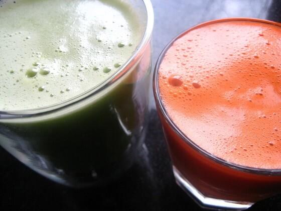 zeleni i mrkvin sok