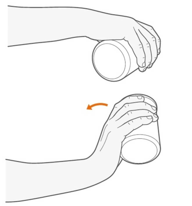 podizanje rucnog zgloba (dlan prema dolje)