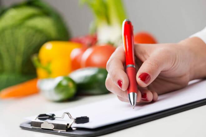 vođenje dnevnika prehrane