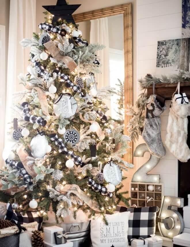 crno bijelo drvce