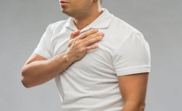 Probadanje u sredini prsnog koša