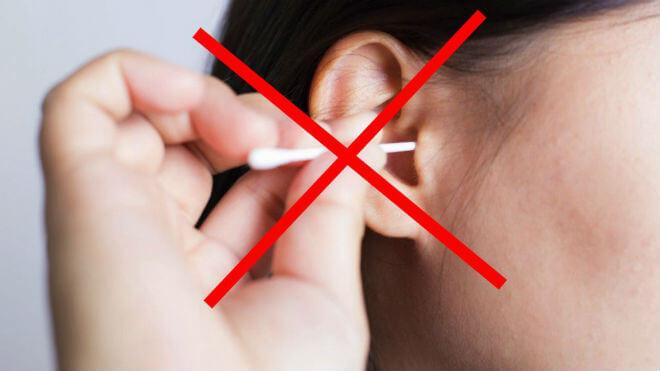 Ne koristiti štapiće za uši