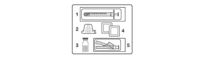 priprema injekcije lijeka hulio