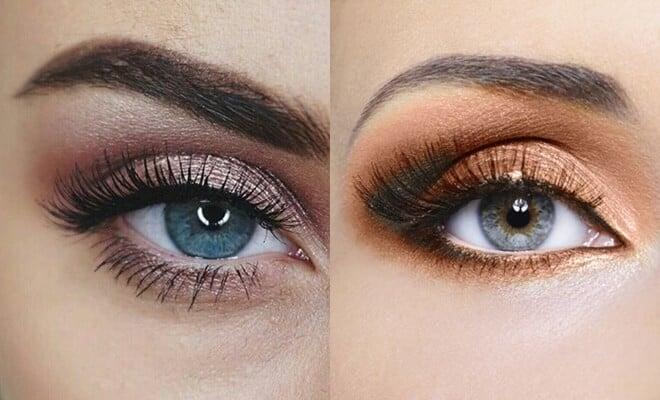 plave oči šminka