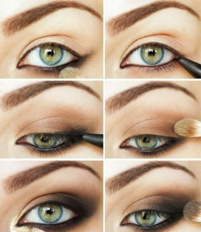 šminka zelene oči
