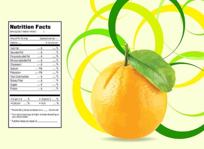Nutritivna vrijednost naranče