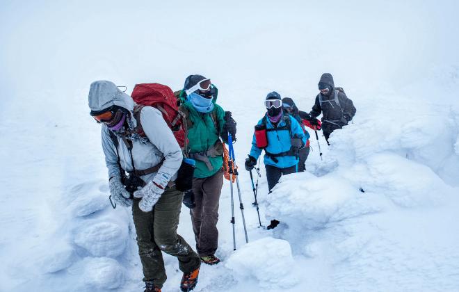 Pješačenje zimi - grupa