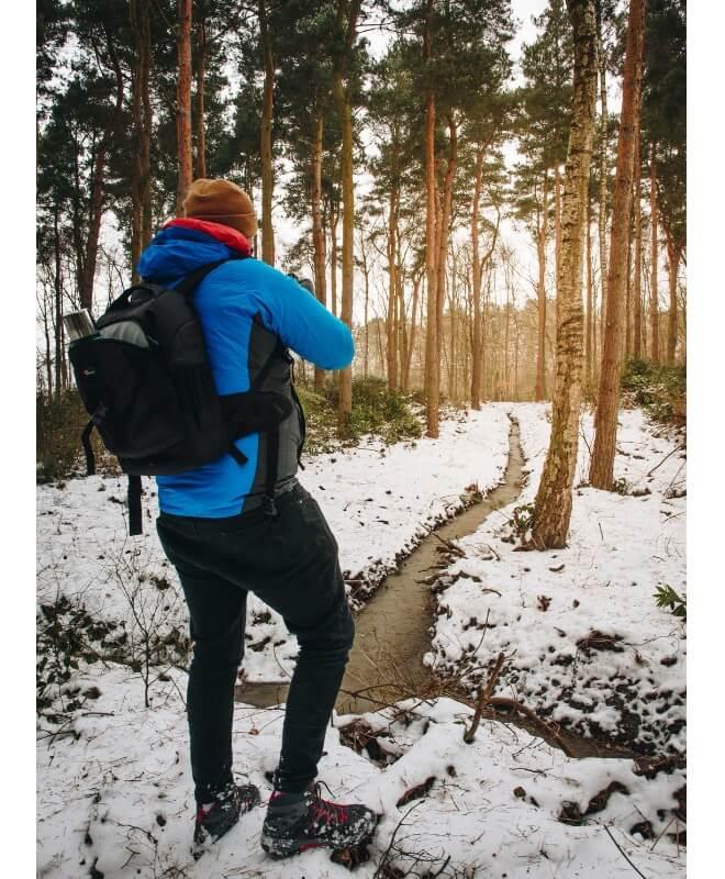 Pješačenje zimi pogled