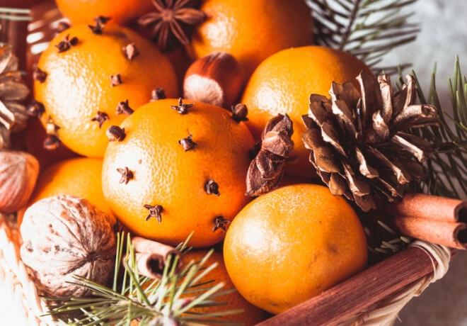 Zimska aromaterapija naranča cimet klinčić