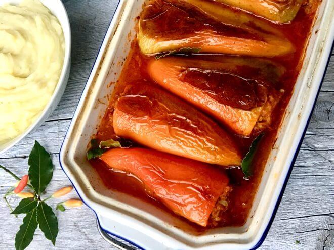 Punjene paprike -veganski recept