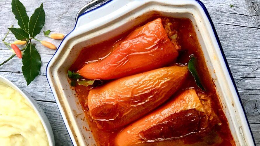 Zapečene punjene paprike