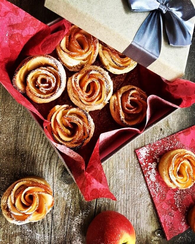 Lisnato od jabuka u obliku ruže
