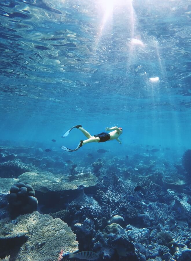 Maldivi - ronjenje na dah