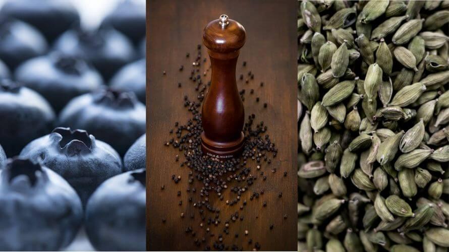 Borovnice, crni papar i kardamom