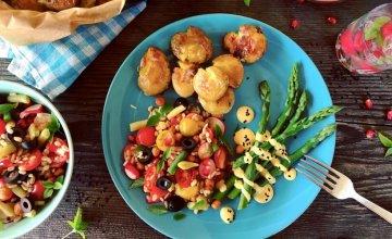 Salata od žitarica, krumpir i šparoge