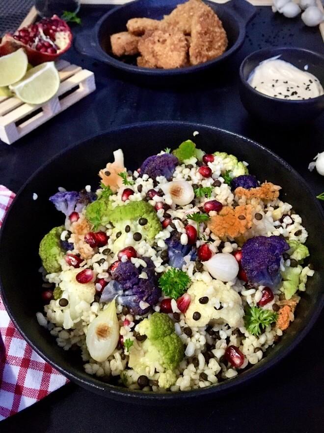 Salata s bulgurom i lećom