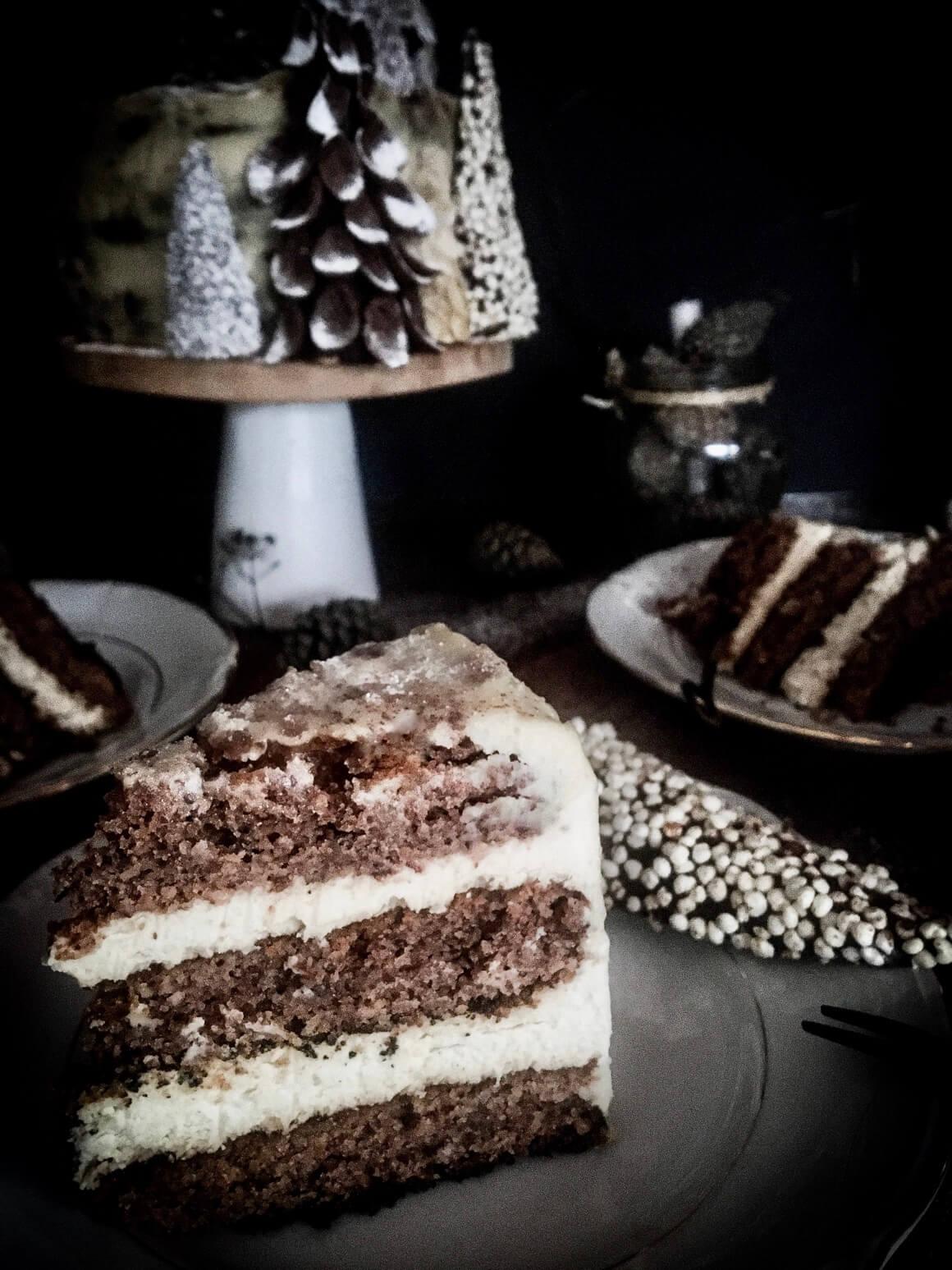 Zimska torta u presjeku
