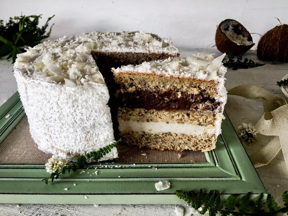 Torta od kokosa s dvije kreme
