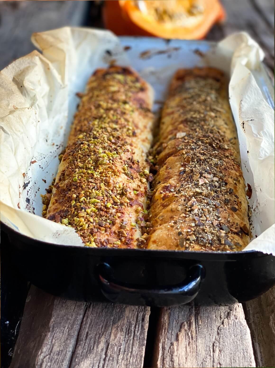 Savijača od bundeve, pistacije i bučinih sjemenki