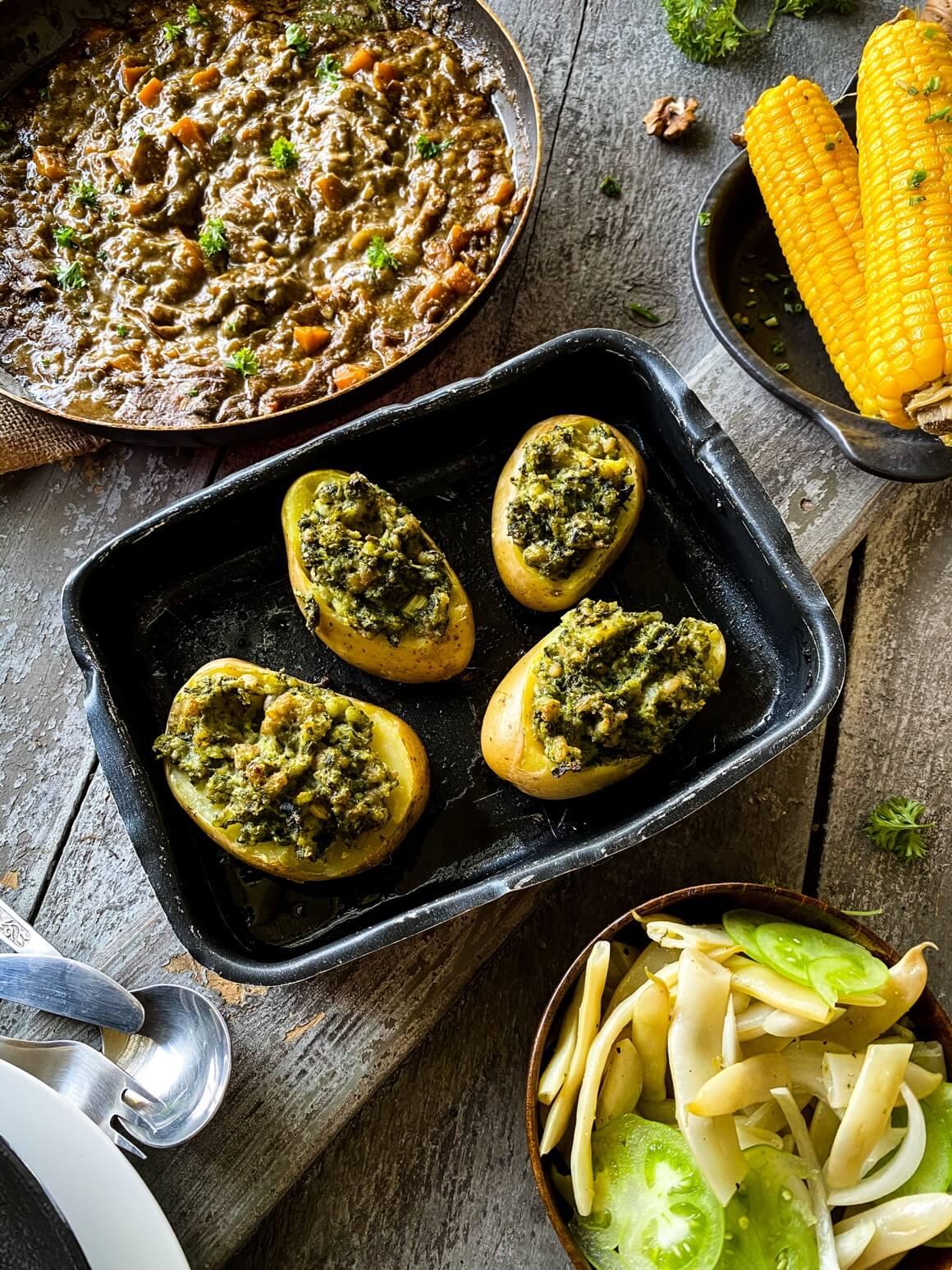 Punjeni krumpir s pestom od kelja