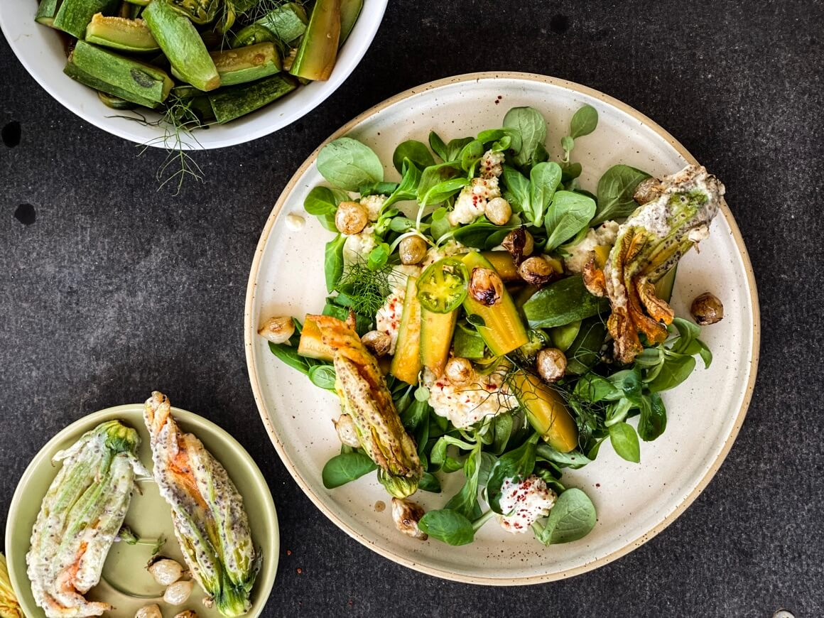 Kuhane tikvice na salatu