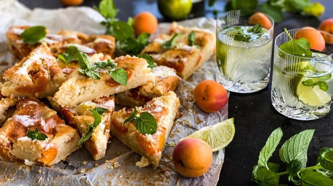 Kolač od marelica - mojito okus
